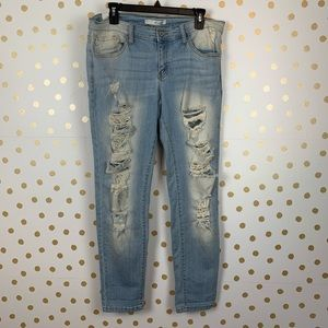 KanCan Destroyed Stretch Skinny Jeans